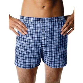 Hanes Men's ComfortBlend Woven Boxers with Comfort Flex Waistband 3-Pack