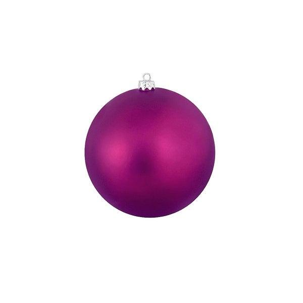"Matte Eggplant Purple Shatterproof Christmas Ball Ornament 4"" (100mm)"
