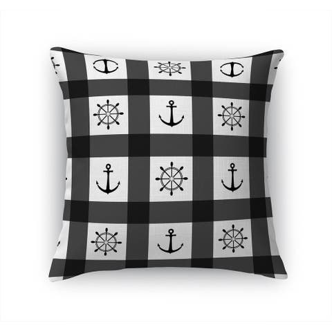 ANCHOR GALORE BLACK AND WHITE Accent Pillow By Kavka Designs