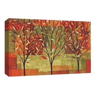 """PTM Images 9-153703  PTM Canvas Collection 8"""" x 10"""" - """"Watercolor Forest II"""" Giclee Trees Art Print on Canvas"""