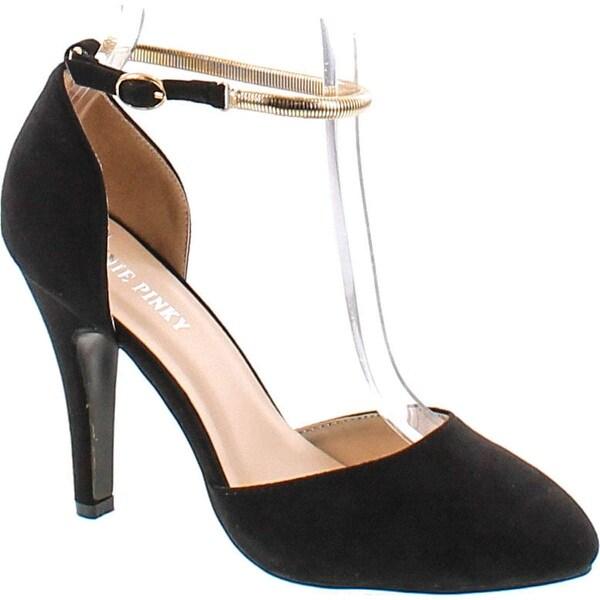 Annie Pinky Kara-07 Women's Sassy D'orsay Ankle Strap Dress Pumps
