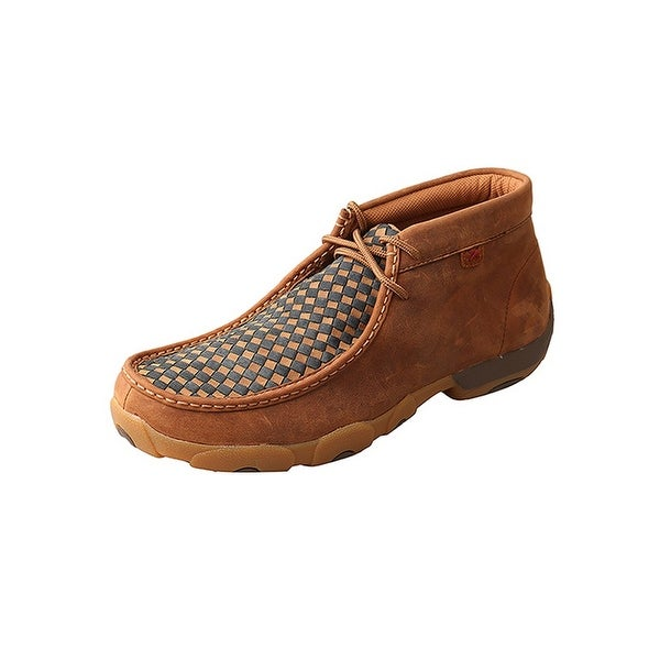 Twisted X Casual Shoe Men Driving Mocs Chukka Red Buckle Brown