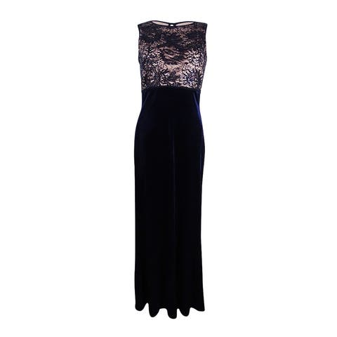 e362e4b2bf5 Nightway Women s Sequined Lace Velvet Gown