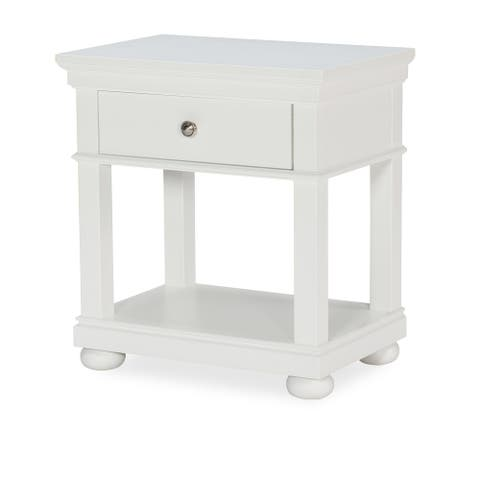 Canterbury Open Night Stand, Natural White