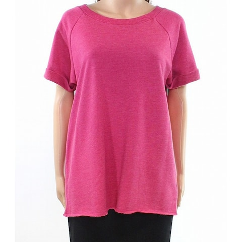 Alternative Womens Small Solid Scoop-Neck Knit Top