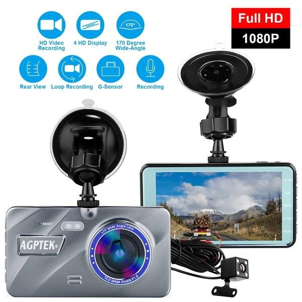4″ 1080P DualLens Car Dash Cam DVR Recorder Rear Video Camera Dashboard G Senser