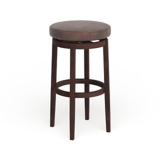 Link to Porch & Den Lynnly Backless Brown Bar Stool with Swivel Seat Similar Items in Dining Room & Bar Furniture
