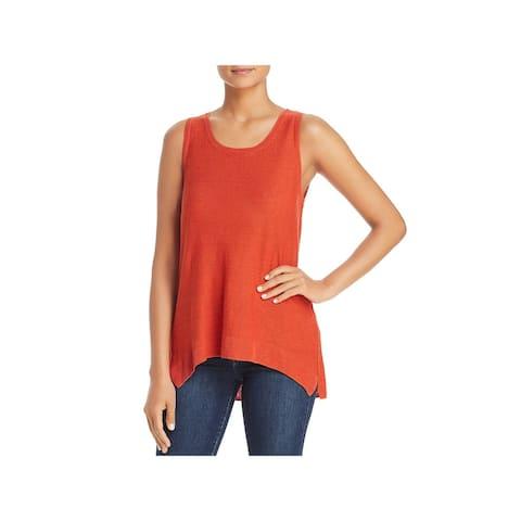 Donna Karan Womens Tank Top Sweater Knit Scoop Neck
