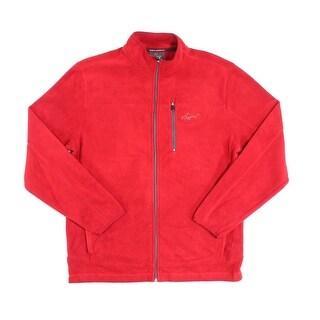 Tasso Elba NEW Red Mens Size Small S Full Zip Longsleeve Fleece Sweater