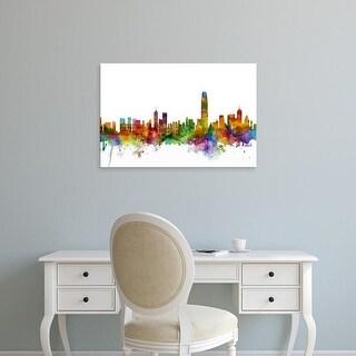 Easy Art Prints Michael Tompsett's 'Hong Kong Skyline' Premium Canvas Art
