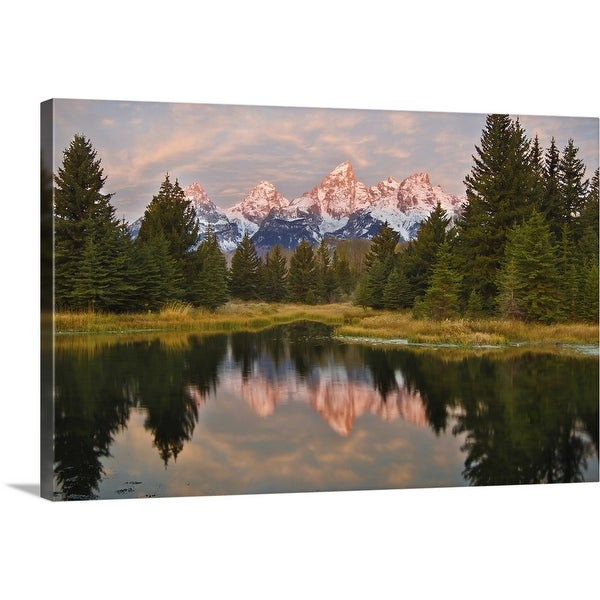 """Sunrise over Grand Tetons"" Canvas Wall Art"