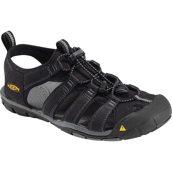 Keen Clearwater CNX Men Sandal, Water Shoe, Black/Gargoyle, 9.5 - Black