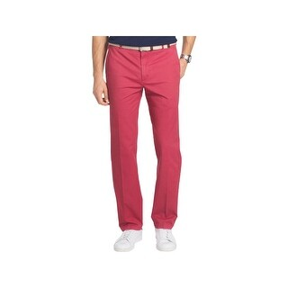 Izod Mens Chino Pants Straight Leg Weathered
