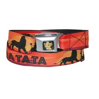 Buckle Down Kids' Disney Lion King Hakuna Matata Seatbelt Buckle Belt - Yellow - One size