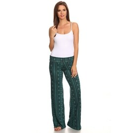 Women's Tibal Mint Printed Palazzo Pants Made in USA