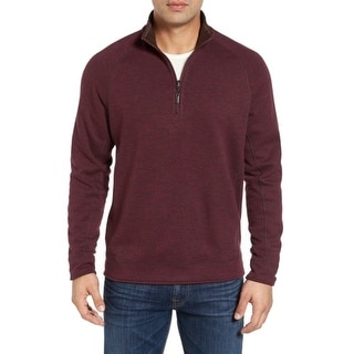 Tommy Bahama NEW Red Mens Size Large L Pullover 1/2 Zip Sweater