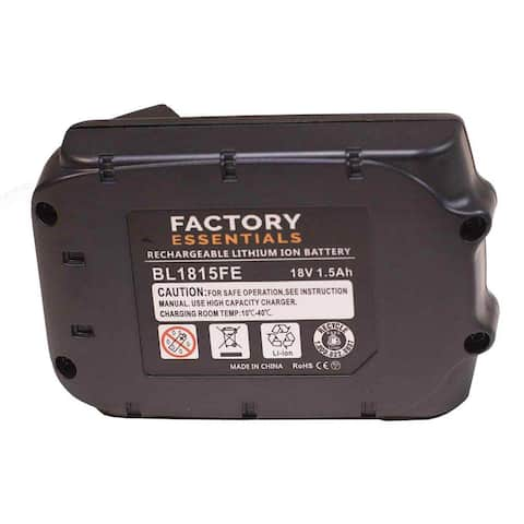 Factory Essentials Replacement Power Tool Battery For Makita BL1815 1.5Ah 18V