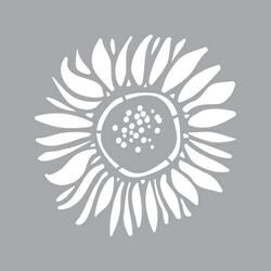 "Sunflower - Americana Decor Stencil 6""X6"""