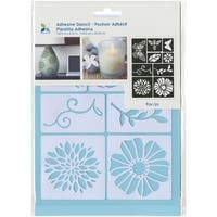 """Momenta Adhesive Stencil, 6"""" by 8"""", Flowers and Bugs"""