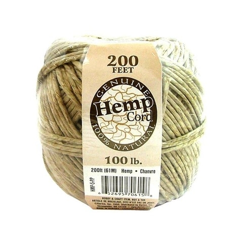 Darice Hemp Cord Ball Natural 100# 200ft