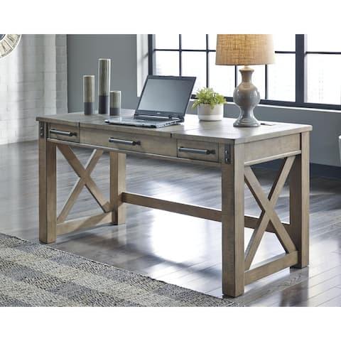 Aldwin Grey Home Office Lift Top Desk