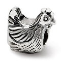 Sterling Silver Reflections Chicken Bead (4mm Diameter Hole) - Thumbnail 0
