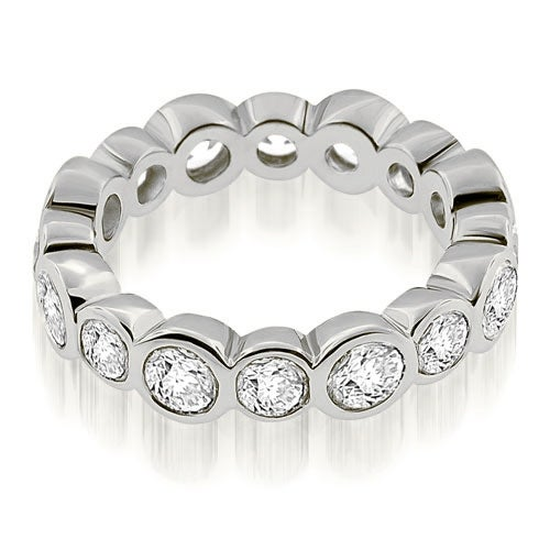 2.80 cttw. 14K White Gold Stylish Bezel Set Round Cut Diamond Eternity Ring