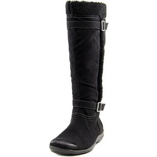 Naturalizer Frost Women Round Toe Canvas Black Winter Boot