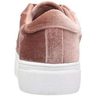 Madden Girl Womens Starstrk Velvet Low Top Lace Up Fashion Sneakers