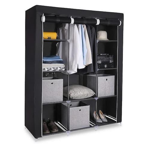 4 Tiers 10 Cube Clothes Organizer Clothes Wardrobe Waterproof Fabric Storage Closet