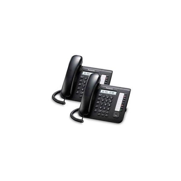 Panasonic KX-DT521-B (2 Pack) 8 Button 1-line Digital Telephone