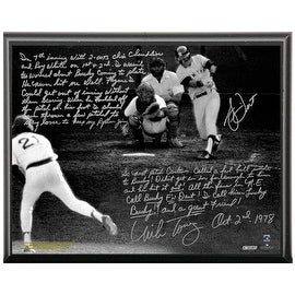 Bucky Dent & Mike Torrez Facsimile '1978 Walk-Off Home Run' Metallic 8x10 Story Plaque