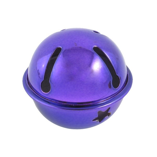 Unique Bargains Hollow Out Star Design 40mm Dia Ring Bell Decoration Purple for Christmas Tree