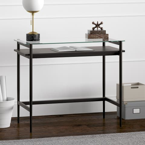 Eaton Desk with Wood Shelf