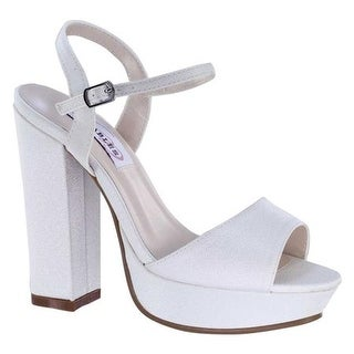 2f0e50e5fa Shop Dyeables Women's Whitta Platform Sandal White Crepe - Free Shipping  Today - Overstock - 19798662