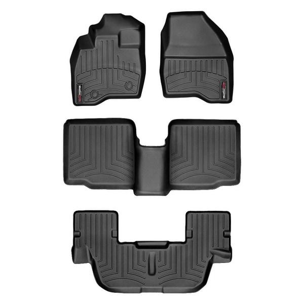 WeatherTech 447041-44359-2-3  Black FloorLiner - All Rows: Ford Explorer 2015 +