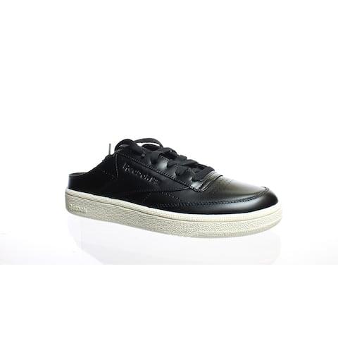 Reebok Womens Club C 85 Black Mules Size 7.5