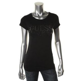 Guess Womens Cotton Metallic Graphic Tee