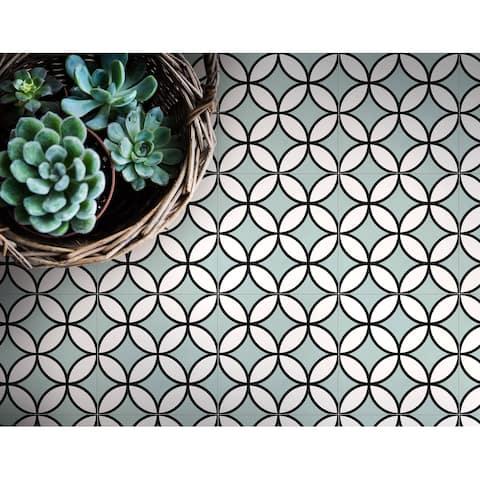 8x8 Brilliant Mint Porcelain Floor and Wall Tile (3.88 Sq. Ft./ 9 pcs per box)
