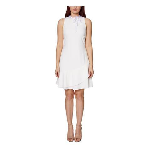 BETSEY JOHNSON White Sleeveless Above The Knee Dress 6
