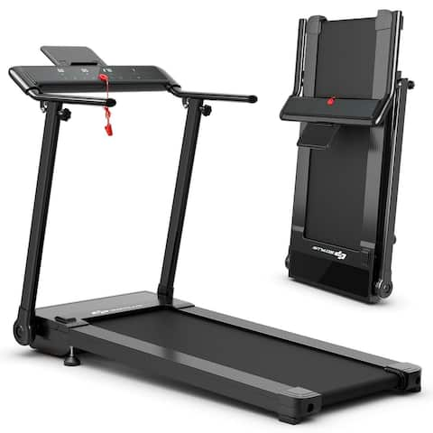 Folding Treadmill for Walking Running with LED Touch Screen for Home Gym Office