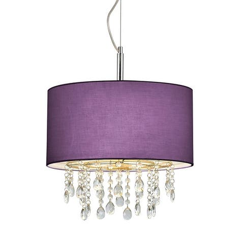 Florence 16.5-inch Round 3-light Crystal Pendant Lamp