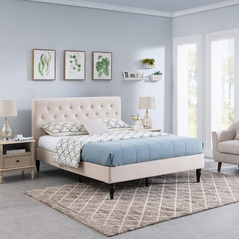 Atterbury Upholstered Queen Platform Bed by Christopher Knight Home