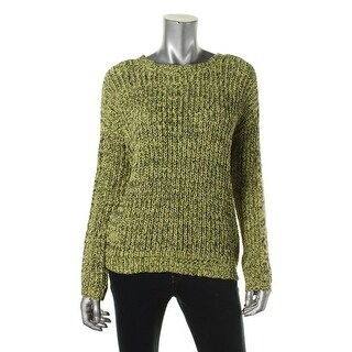 Two by Vince Camuto Womens Marled Crew Pullover Sweater