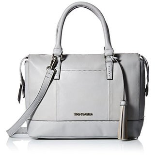 Tignanello Womens Urban Casual Leather Satchel Barrel Handbag - frost - Medium