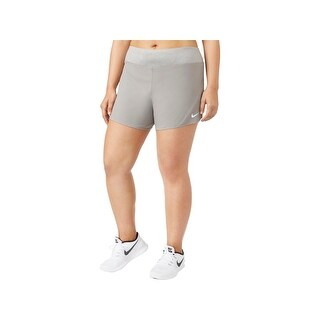Nike Womens Plus Shorts Colorblock Pull On