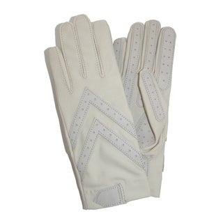 Isotoner Women's Unlined Leather Palm Driving Gloves (Option: Oyster)