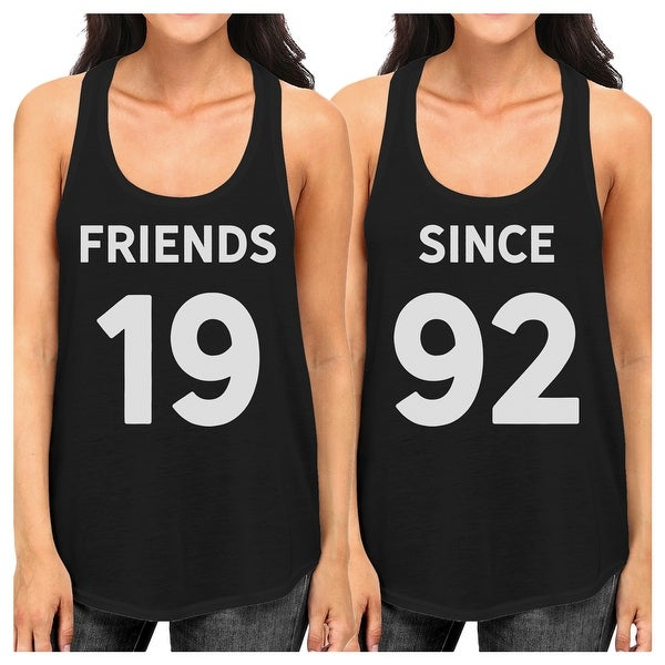 1286f68cb13dd Shop Friends Since Womens Best Friend Custom Matching Tank Tops Gifts -  Free Shipping On Orders Over  45 - Overstock - 22401446