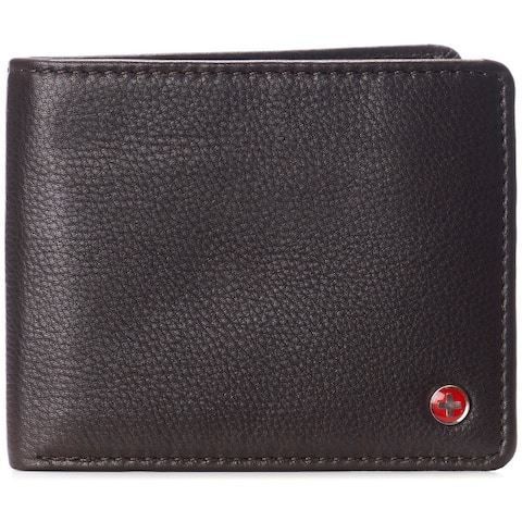 Alpine Swiss RFID Connor Passcase Bifold Wallet For Men Leather Comes in a Gift Box - One Size