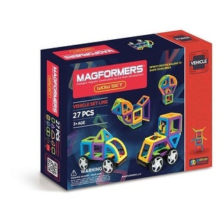 Magformers Vehicle Wow 27-Piece Building Set - Multi